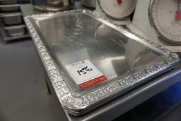11no. Decorative Stainless Steel Serving Trays, Lot is Located Main Building, Room: Kitchen