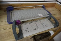 2no. Paper Guillotines as Lotted, Lot Located in Block: 5 Room: 5