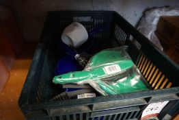 Box of Dustpan & Brushes, Lot is Located Main Building, Room: Kitchen Stores Outbuilding