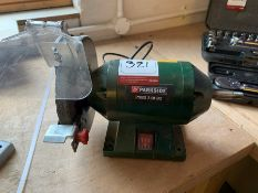 Parkside Bench Grinder as Lotted, Lot Located In; Tool Shed