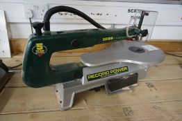 """Record Power SS16V 16"""" Variable Speed Scroll Saw, Lot Located in Block: 5 Room: 5"""