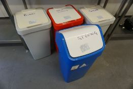4no. Various Storage Bins as Lotted, Lot is Located Main Building, Room: Kitchen