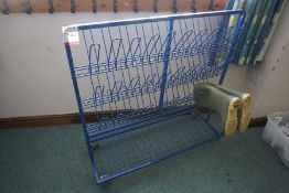 Mobile Welly Rack as Lotted, Lot Located in Block: 4 Room: 8