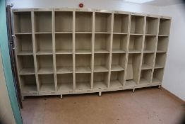 13no. Locker Units with Stands, Each Locker 400 x 1960 x 450mm as Lotted, Lot Located in Block: 3