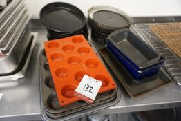 Quantity of Various Cake Tins and Muffin Trays, Lot is Located Main Building, Room: Kitchen