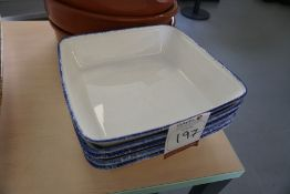 5no. Serving Dishes, Lot is Located Main Building, Room: Canteen