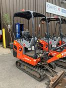 2016 Kubota KX016-4 HG Mini Excavator, serial number 60059, 1,732 hours, rubber tracks, piped,