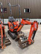 2016 Kubota K008-3 Mirco Excavator, serial number 27619, 1,035 hours, rubber tracks, piped, blade,