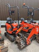 2016 Kubota K008-3 Mirco Excavator, serial number 27835 , 931 hours, rubber tracks, piped, blade,