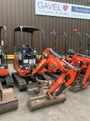 2016 Kubota KX016-4 HG Mini Excavator, serial number 59715, 1,490 hours, rubber tracks, piped,