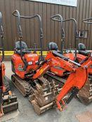 2016 Kubota K008-3 Mirco Excavator, serial number 27870, 723 hours, rubber tracks, piped, blade,