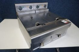 2-Berth Commercial Tabletop Electric Deep Fat Fryer, 240V, There is Not VAT on this Lot, However VAT