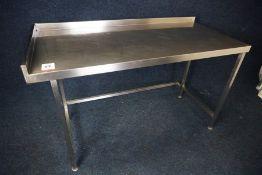 Stainless Steel Corner Prep Table with Splashback 1500 x 950 x 700mm