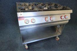 Angelo Po Mobile 6-Burner Gas Hob 1050 x 950 x 700mm