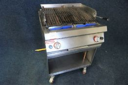 Angelo Po 1G0GRG Mobile Adjustable Gas Chargrill with 2no. Cleaning Brushes