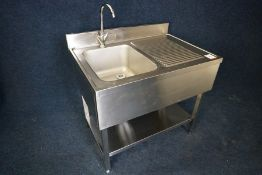 Stainless Steel Sink Unit with Splashback 1000 x 970 x 700mm