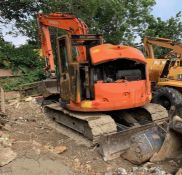 Salvage 2018 Hitachi ZX85USB-5A Excavator with Hydraulic Hitch and 5no. Buckets, circa 1300 Hours