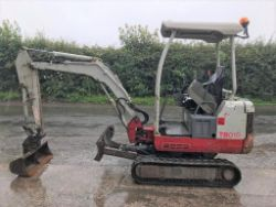 Unreserved Online Auction - STOLEN/RECOVERED 2013 Takeuchi TB016 Mini Excavator