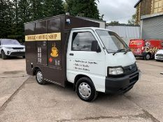 2007 Piaggo Porter Converted Body to form Sandwich & Coffee Van, Category C, Complete With;