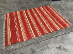 Red Striped Interior Floor Rug 1800 x 2450mm