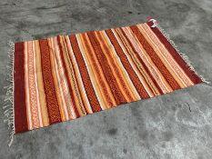 Orange Striped Interior Floor Rug 900 x 1500mm