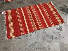 Red Striped Interior Floor Rug 900 x 1500mm