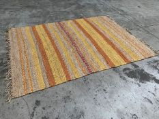 Woven Striped Interior Rug 1800 x 2450mm