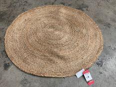 Circular Woven Interior Floor Rug 1200mm dia