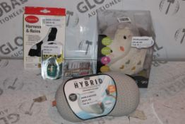 8 Assorted Items to Include, Olly the owl Night Lights, TSA Padlocks, Harness and Rain sets,