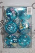 Lot to Contain, 32 Brand-new Packs Roman Conrad Collection, Blue Decorated Baubles, RRP£400.00 (