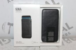 Lot to Contain, 10 Boxed Brand-new Sena, Hand crafted Genuine Leather, Slim fit Leather Pouched