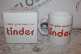 Lot to Contain 20 Boxed Brand New I Saw Your Mum on Tinder