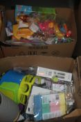 Lot to Contain 3 Boxes to Contain a Large Assortment of Items to Include George at Home Scales, Mini