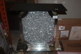 Sparkle Effect Glass Console Table Base Only