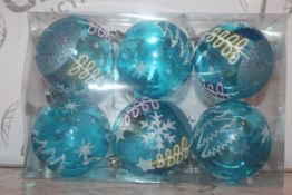 Box to Contain a Large Amount of 8cm Blake Blue Christmas Baubles (Public Viewing and Appraisals