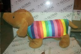 Kid Collection Giant Rainbow Dog Soft Toy RRP £55 (Public Viewing and Appraisals Available)