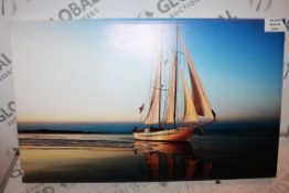 Sail Away On The Sea Canvas Wall Art RRP £45 (16452) (Public Viewing and Appraisals Available)