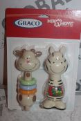 Box to Contain 12 Packs of 2 Graco Mix and Move Baby Rattles Combined RRP £100