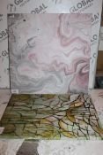 Lot to Contain 4 Assorted Designer Canvas Wall Arts Combined RRP £110 (16367) (Public Viewing and
