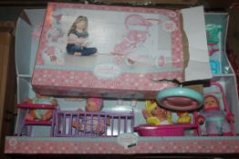 Lot to Contain 3 Boxed Assorted Children's Toy Items to Include My Sweet Baby Sets, My Sweet Baby