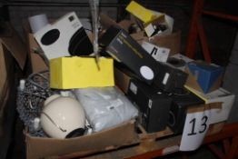 Pallet to Contain a Large Assortment of Items to Include Ceiling Lights, Table Lights, LED String