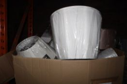 Lot to Contain Approx. 40 - 50 Designer Ceiling Light Shades in Assorted Styles and Sizes and