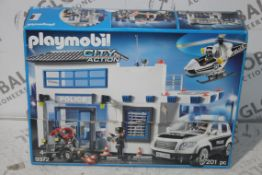 Boxed Play Mobile 9372 Police Station City Action Adventure Play Set RRP £55 (RET00629049) (Public