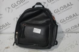 Skiphop Black Leather Nursery Changing Bag RRP £100 (4415071)(In Need of Attention) (Public