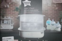Boxed Tommee Tippee Super Steam Advanced Steam Steriliser RRP £50 (RET00815595) (Public Viewing