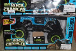 Boxed New Bright RC Rock Crawler Junior Remote Control 4x4 Jeeps RRP £50 Each (RET00995042)(4388567)