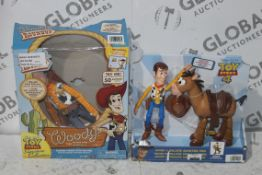 Assorted Toy Story 4 Children's Toy Items to Include a Woody and Bullseye Adventure Pack and a