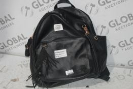 Skiphop Black Leather Nursery Changing Bag RRP £100 (4414724)(In Need of Attention) (Public