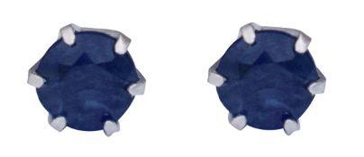 Sapphire earrings in platinum, Metal Platinum 900,