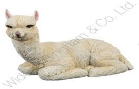 Lot to Contain 5 Brand New Nature Craft Llama 19cm Seated Llama Resin Figurines Combined RRP £100 (